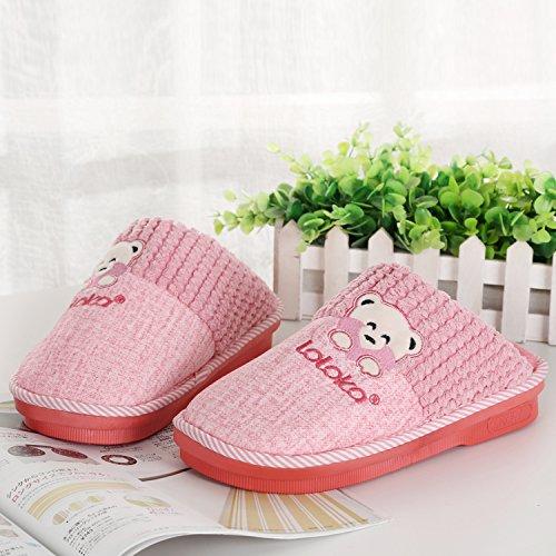 Chaussures bord Fourrure Fausse hommes nbsp;Glisser Chaussons au en LaxBa chaud sur neige l'hiver pour zqYwFO0