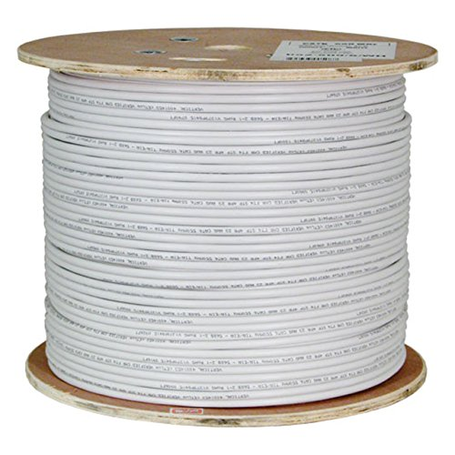 Vertical Cable Cat6A 10G, STP, 23AWG, Solid Bare Copper, PVC, 1000ft, White, Bulk Ethernet Cable