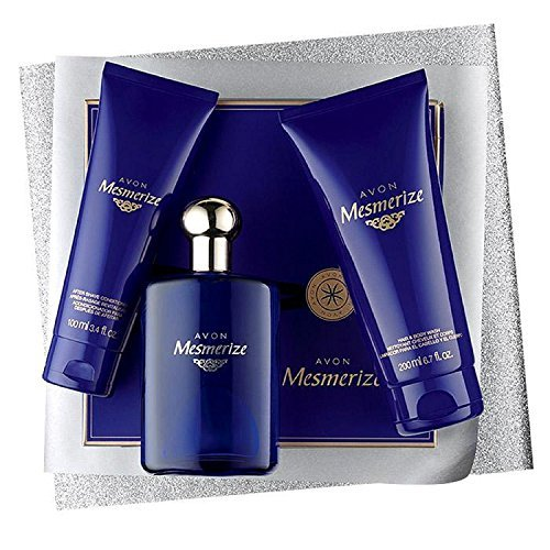 Avon Mesmerize Gift Set for Him Mens Eau de Cologne Spray, After Shave, Body Wash
