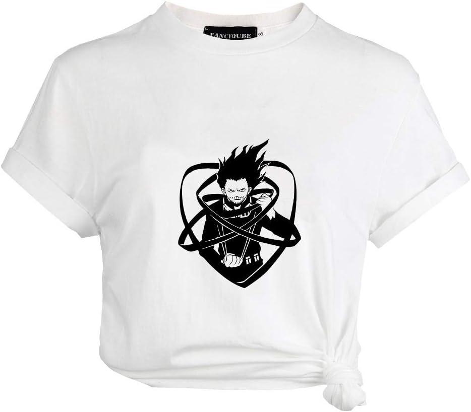 Japanese Anime Short-Sleeve Crewneck T-Shirts for Girls and Women Peoria My Hero Academia T-Shirt