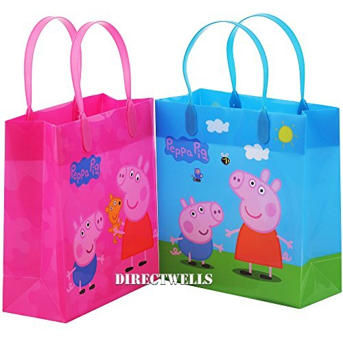 Entertainment One Peppa Pig Authentic Licensed Party Favor Reusable 12 Goodie Medium Gift Bags 8