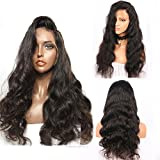 """Helene 8A Brazilian Silk Top Full Lace Human Hair Wigs Body Wave Silk Base Lace Front Human Hair Wigs Pre Plucked Hairline With Baby Hair For Black Women (20"""" 130% Silk Top Lace Front Wigs)"""