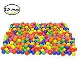Play Balls,ZICA 110 Pcs Colorful Non-Toxic Kids Balls Crush Proof Swim Toys Plastic Soft Balls Pit Balls 6 Bright Colors,5.5cm/2.2inches