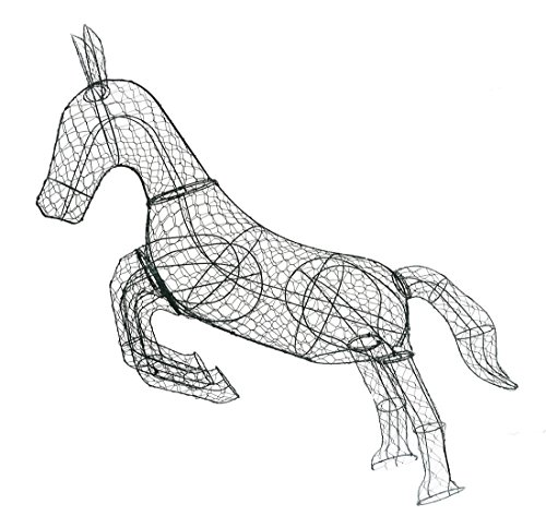 Galloping Horse 62 inches high x 65 inches long x 16 inches diameter Topiary Frame, Handmade Animal - Topiary Horse