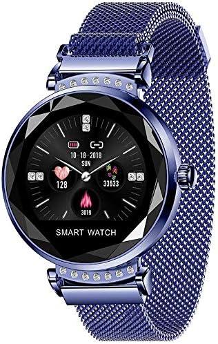 Inteligente reloj, pulsera de fitness con monitor de ritmo cardíaco Blood Sport Rastreador de relojes inteligentes deportivos, IP67 resistente al agua contador del monitor del sueño podómetro,Azul: Amazon.es: Hogar