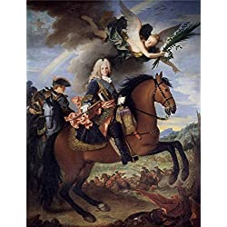 Polyster Canvas ,the High Resolution Art Decorative Canvas Prints Of Oil Painting 'Ranc Jean Felipe V A Caballo Ca. 1723 ', 20 X 26 Inch / 51 X 66 Cm Is Best For Kitchen Decor And Home Decoration And Gifts