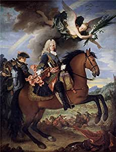 Oil painting 'Ranc Jean Felipe V a caballo Ca. 1723 ' printing on polyster Canvas , 8 x 10 inch / 20 x 27 cm ,the best Kids Room artwork and Home artwork and Gifts is this Best Price Art Decorative Prints on Canvas