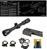 Ultimate Arms Gear M1 M-1 Carbine .30 Cal Rifle 2-7x32 Scope + Weaver Picatinny Rail Mount + Rings + Lens Covers + Lens Cleaning Kit + Gunsmith/Armorer's Cleaning Work Tool Bench Gun Mat