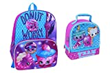 Shopkins Donut Cupcake Backpack and Lunch Box Set Two Piece Bundle