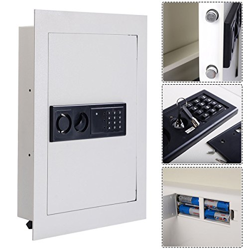 Electronic Wall Safe Box 0.8CF Flat Recessed Digital Lock Hotel (Jewelry Closet Recessed)
