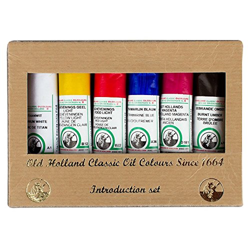 Old Holland : Classic Oil : Intro Set of 6 x 18ml Tubes Oil...