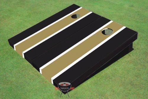 ダークゴールドとブラックMatchingロングストライプCorn穴ボードCornhole Set Game Game B00CMDMSNK Set B00CMDMSNK, みずらいふ:e9a345d3 --- gamenavi.club