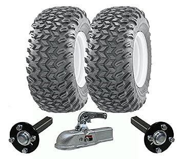 juego de remolque ATV Quad de alta resistencia - remolque - ruedas Wanda + Steelpress producción ejes concentrador / stub, fundido deber de enganche pesada ...