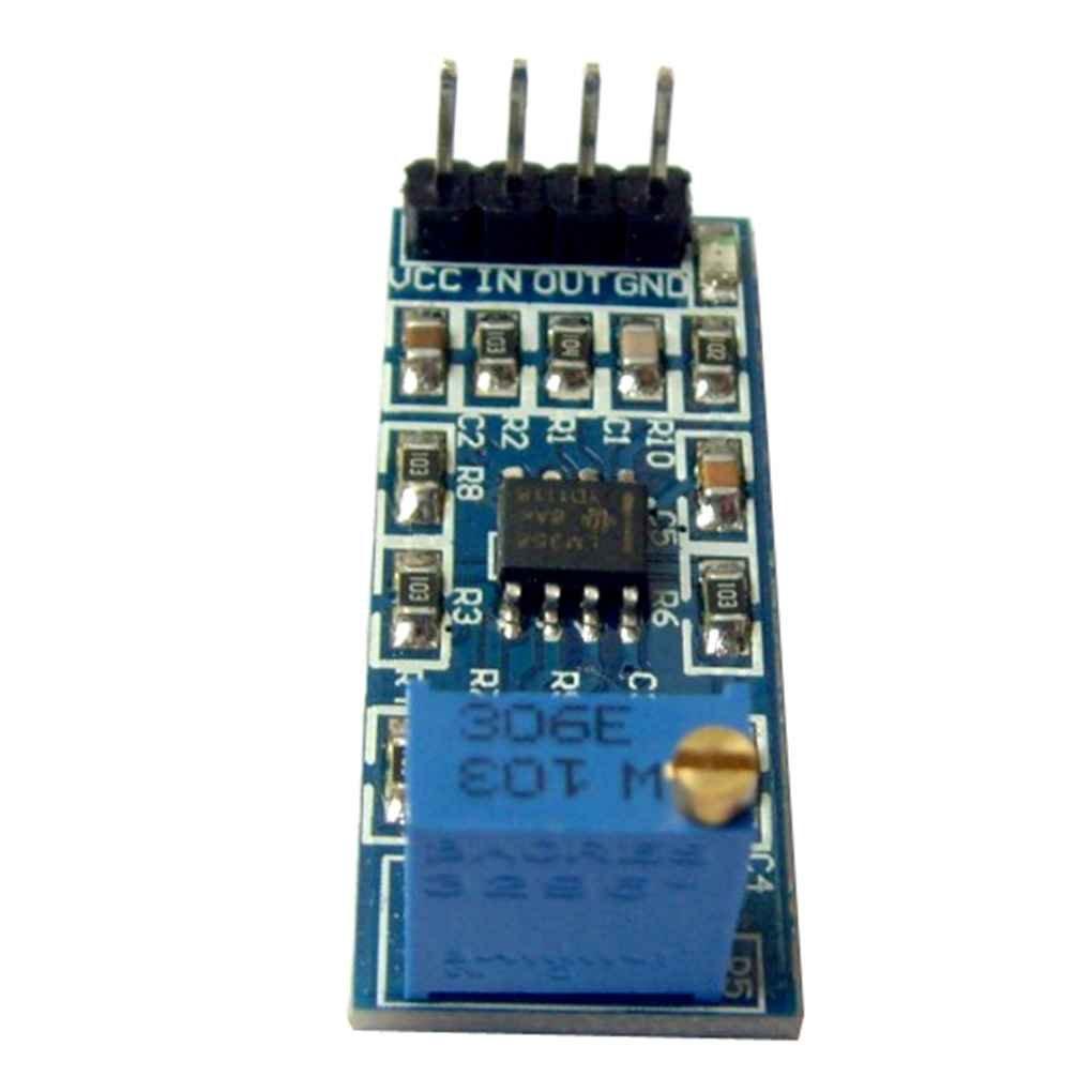 Kongnijiwa Modules LM358 Chips 100 Fois Amplificateur Gain Op/ération Signal Module avec 10K Puissance R/ésistance r/églable Lumi/ère
