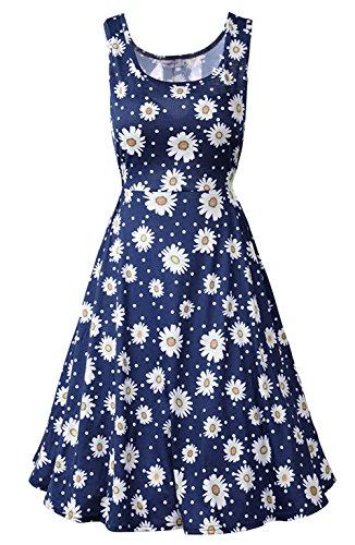 Amyfeel-Women-Sleeveless-Summer-Dress-1950s-Retro-Swing-Dress-L-Floral-1