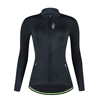 DuShow Women Thermal Cycling Fleece Jacket Winter Long Sleeve Cycling  Thermal Jersey Shoftsell Windproof Bike Bicycle d38658005