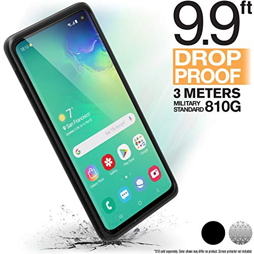 - Catalyst Case Compatible with Samsung Galaxy S10 Case Military Impact Resistant, Shock Proof, Drop Proof 9.9ft, Impact Truss Cushioning System, Raised Bezels, Lanyard Stealth Black