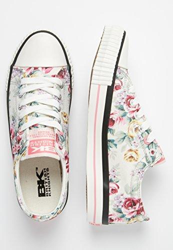 WHITE Sneaker PINK White EU FLOWER Damen 41 Off Flower Pink OFF British Knights PwvgqE