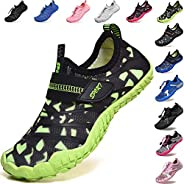 Lvptsh Kids Water Shoes Boys Girls Quick Dry Aqua Socks Barefoot Beach Swim Shoes for Pool Surfing Summer Athl