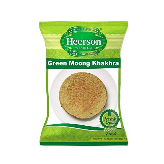 Heerson's Mumbai Green Moong Khakhra 200g X 2 Packs
