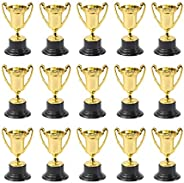 POPETPOP 20pc Gold Trophy Kids Plastic Trophy with Base Desktop Trophy Decor for Sports Competitions Party Fav