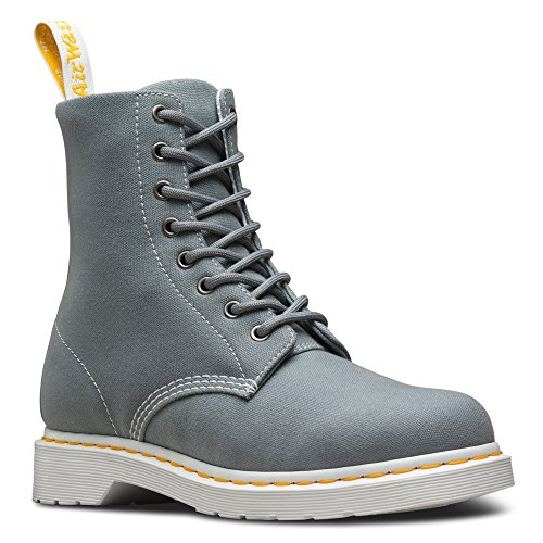 Black Canvas Dr Women's Page Grey Martens Shoes Boat Mid 1RFwt