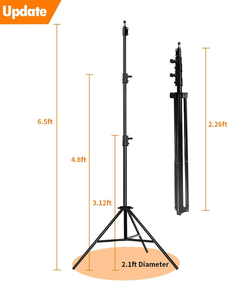 MOUNTDOG Update 78inch//6.5 Ft//200CM Photography Tripod Light Stand for Photo Studio Reflector Softbox Light Umbrella Ring Light Background Video Lighting Studio Mono Light Studio Kits Aluminum Alloy