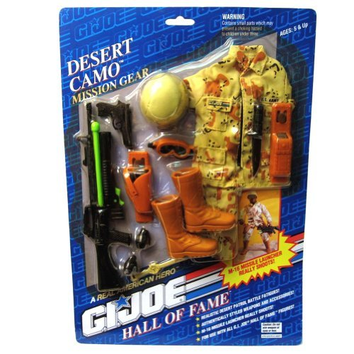 Joe Gear Gi Mission (Desert Camo GI Joe Hall of Fame 1993 Mission Gear)