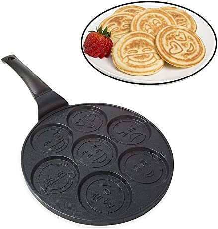 Emoji Smiley Face Pancake Pan - Non-stic