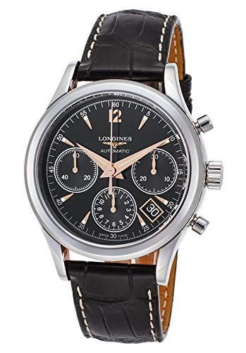 Longines Heritage Leather Chronongraph Automatic Mens Watch L27424560