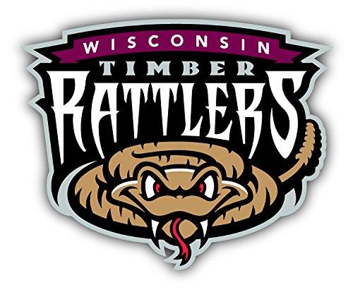 qualityprint Wisconsin Timber Rattlers MiLB Minor Baseball Combo Sport Decor Bumper Vinyl Sticker 5'' X 4'' ()
