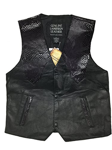 Giovanni Navarre® Hand-Sewn Pebble Grain Genuine Leather Western Style Vest,size -