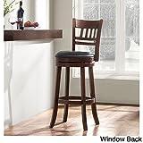 Verona Cherry Swivel Seat High 29 Counter Pub Chair 360 Degree Window Back