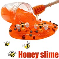 Clearance Sale!DEESEE(TM) Honeybee Mixing Cloud Slime 80ML Honey Slime Putty Scented Stress Kids Clay Toys