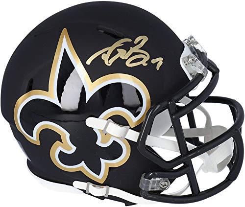Drew Brees New Orleans Saints Autographed Riddell AMP Speed Mini Helmet - Fanatics Authentic Certified