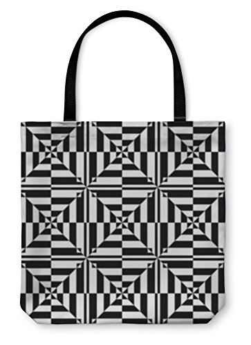 Gear New Shoulder Tote Hand Bag, Op Art Design Geometric Pattern, 13x13, 15884GN