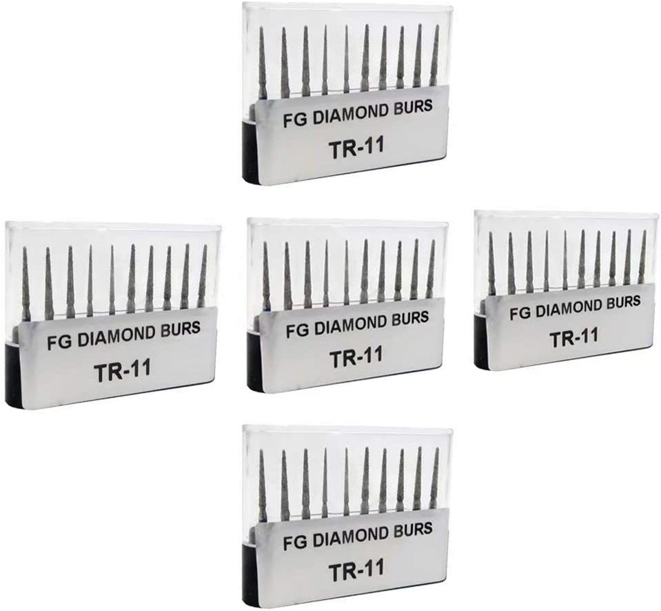 50Pcs Diamond Burs Drill Set Carborundum Burr FG Cutting Burs Polishing Head TR-11