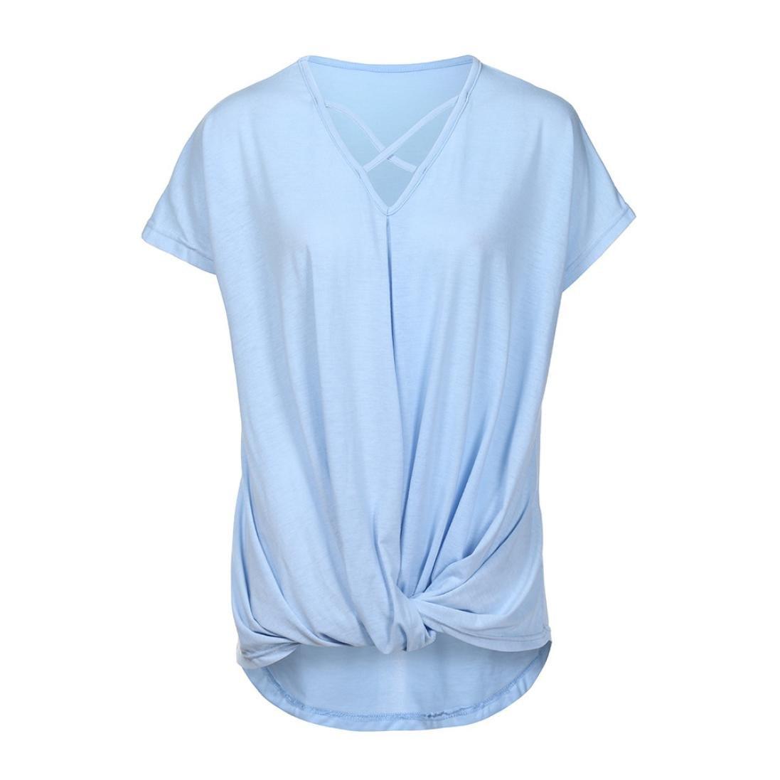 TIFIY Frauen Gestreiften unregelm/ä/ßigen Saum Geraffte Camisole /ärmellose Tank Tops Sommer Pullover T-Shirt Bluse