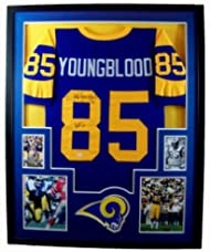 3cbe0a1d7 Jack Youngblood Framed Jersey Signed JSA COA Autographed St. Louis Rams