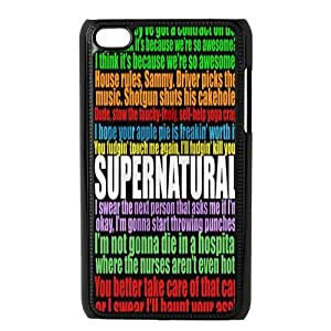 Customize Generic Hard Plastic Shell Phone Cover Supernatural Quotes Back Case Suitable For iPod 4 Touch 4th Generation