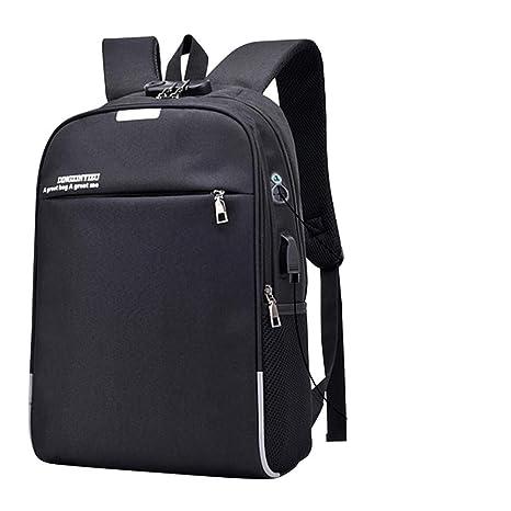 Amazon.com: Anti Theft Password Locks Men Backpacks USB Charging Backpack With Headphone Plug Business Travel Backpack Bag Black: Clothing