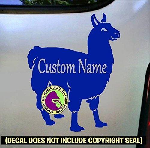 Llama #2 ADD CUSTOM WORDS Full Body Vinyl Decal Sticker E