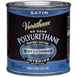 Rust-Oleum Varathane 200261H 1/2-Pint Interior Crystal Clear Water-Based Polyurethane, Water-Based Satin Finish