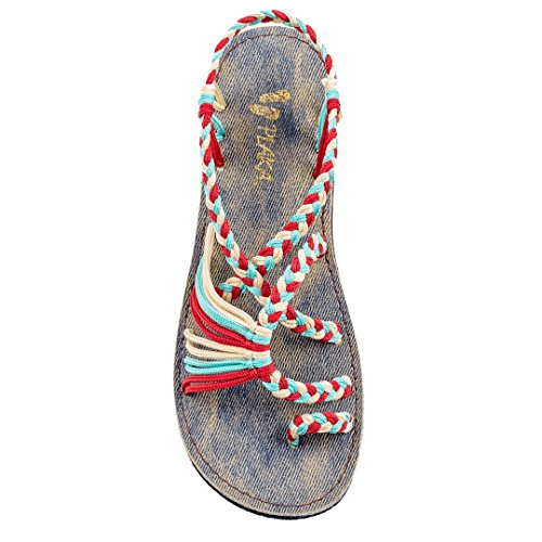 plaka-sandals-jeans-turquoise-red-offwhte-size-10-palm-leaf