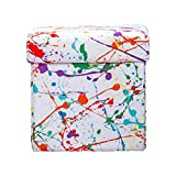 SIScovers Crayola Splat Box Ottoman White - Square