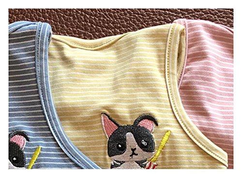 Per Domestici M A Animali Mwaaz Gilet Regalo Natalizio Righe Cotone Domestici In Giallo HgvW6qEpxw