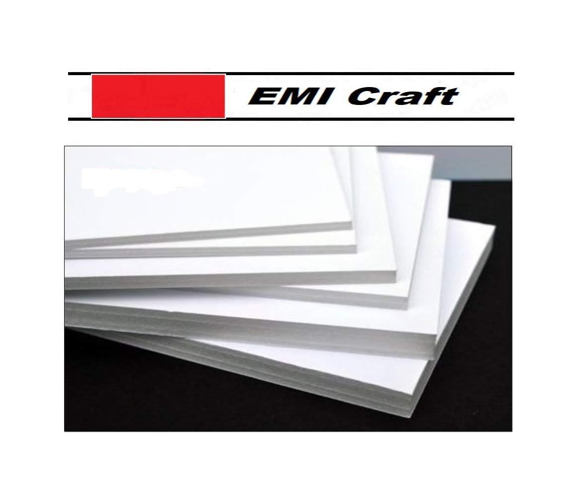 15 unidades, tama/ño A3 Cathedral Cart/ón pluma 3mm color blanco EMI Craft