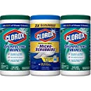 Clorox Disinfecting Wipes plus Clorox Disinfecting Wipes with Micro-Scrubbers, 3 Pack