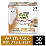 Purina Fancy Feast Gravy Wet Cat Food Variety Pack, Gravy Lovers Poultry & Beef - (30) 3 oz. Cans