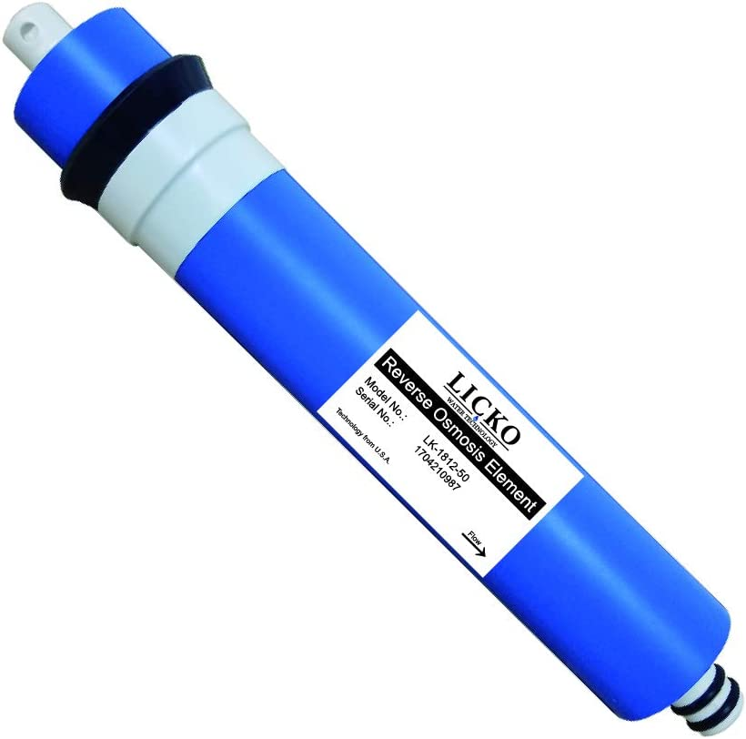 CreativePaper 50 GPD TFC Replacement Membrane for Undersink Reverse Osmosis (RO) System 1812 (Blue, 1812-50GPD)